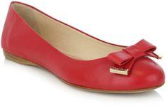 Max Mara Red Jordan Ballet Shoes