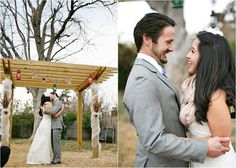 """i love that she is wearing a scarf...  and i love this website """"the wedding guide for the handmade bride"""" its too much goodness."""