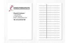Cartes De RDV Simples N8 Kine