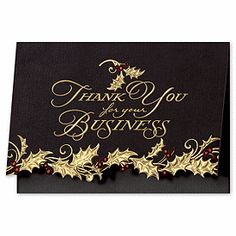16 best thank you for your business cards images on pinterest holly appreciation business holiday card business thank you cards deluxe colourmoves
