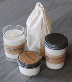 Candles packaging