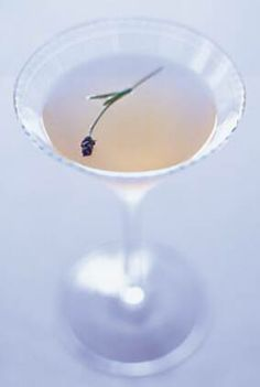 Lavender Cocktail - Range  Dry French Vermouth, Splash of Gin, Lemon,  Honey, Lavender
