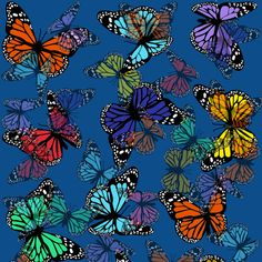 Be Diff - Estampas figurativas | Revoada de borboletas by Laura Fernandez