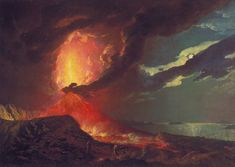 "Joseph Wright of Derby - ""Vesuvius in Eruption, With a View Over the Islands of the Bay of Naples"""