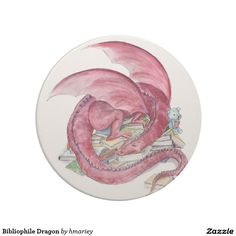 Bibliophile Dragon Drink Coaster