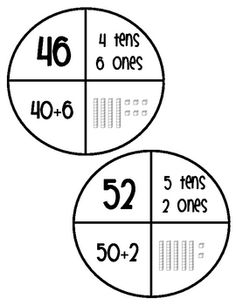 Place Value Puzzles image 2 - puzzle pieces and find the matching ones