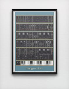 Moog Modular  50 x 70 cm Giclée Print Analog Synth Vintage Graphic Poster Home