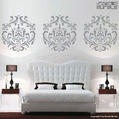 damask decals..ideas for baby room