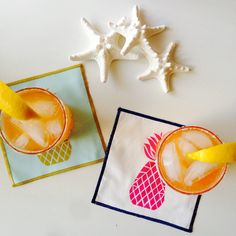 Courtney Pineapple cocktail napkins by The Blush Label. www.theblushlabel.com