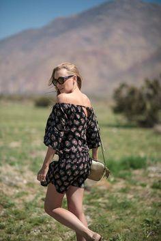 Kim of Eat Sleep Wear is feminine and free in her Denim & Supply dress