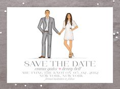 Custom Tailored Save The Dates and Thank You Cards | Ashley Brooke Designs