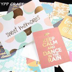 YPP CRAFT 20 stks Zoete Herinneringen Kleurrijke Cardstock Die Cuts voor Scrapbooking Gelukkig Planner/Card Making/Journaling Project DIY