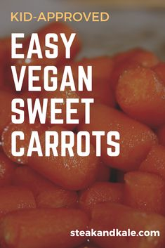 Looking for another way to serve carrots? Try this delicious easy sweet vegan carrot recipe. Quick to make, vegan, and plant-based. Plus, it is kid-approved! Vegan Carrot Recipe, Carrot Recipe For Kids, Carrot Recipes, Vegan Recipes, Sweet Carrot, Kids Health, Baby Health, Advice For New Moms, Plant Based Eating