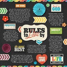 6 Simple Rules for Life by Shawna Clingerman  DJB font: Sandra Dee by Darcy Baldwin