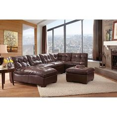 ^Point South Furnishings Cadence 5-Piece Bonded Leather Modular Sectional with