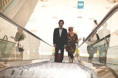 On the escalator with Bradley Cooper
