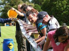 Collaborative water (or ball) run