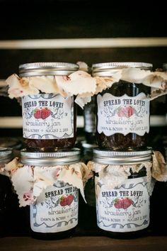 """Spread The Love"" Jam Wedding Favor"