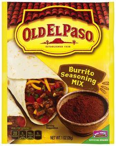 Old El Paso® Burrito Seasoning Mix 1 oz. Packet
