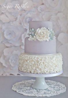 Dove Grey Wedding Cake...very pretty