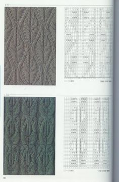 """Photo from album """"Knitting Patterns Book on Yandex. Knitting Machine Patterns, Knitting Stiches, Knitting Charts, Lace Knitting, Knitting Needles, Knit Patterns, Crochet Stitches, Stitch Patterns, Stitch Book"""