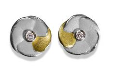 ARS Earrings silver 925/-with gold 750/-