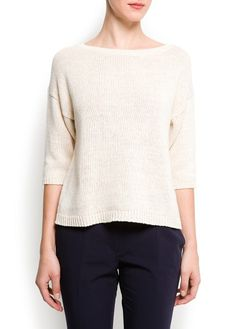 Mango - METALLIC KNITTED SWEATER