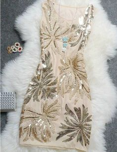 That is so me! Engament or rehersal dinner dress? Retro Sequined Dress ADADBE       Beautiful Womens Fashion
