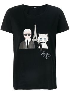 KARL LAGERFELD Karl and ChoupetteT恤. #karllagerfeld #cloth #
