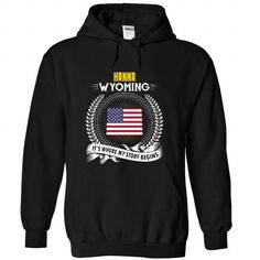 Born in HANNA-WYOMING V01 - #shirt design #cute sweater. BUY-TODAY => https://www.sunfrog.com/States/Born-in-HANNA-2DWYOMING-V01-Black-Hoodie.html?68278