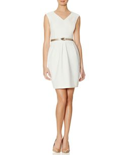Belted Cap Sleeve Sheath Dress from THELIMITED.com #TheLimited