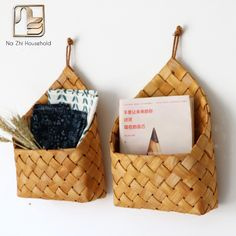 Nazhi Natural Fir Handmade Woven Baskets Flower Tableware Container Kitchen Wall Hanging Flower Pot Letter Box Storage Basket-in Storage Baskets from Home & Garden on Aliexpress.com | Alibaba Group