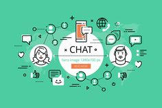 Chat hero banners set  @creativework247