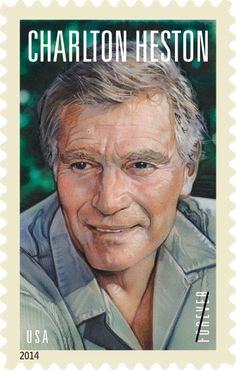 Charlton Heston appeared in 100 films in a career that spanned over sixty years. Charlton Heston is the stamp in the Legends of Hollywood series. This stamp pictures a color portrait by movie artist Drew Struzan. Dundee, Postage Stamp Art, Hollywood, Planet Of The Apes, Portraits, Portrait Art, Classic Films, Stamp Collecting, My Stamp