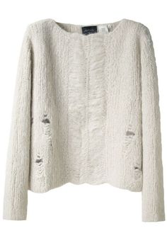 Worn for softness. #sweater, #knit, #white
