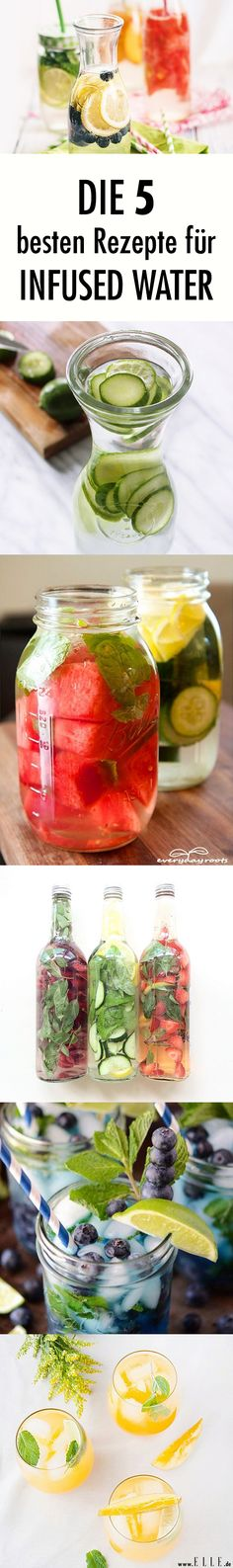 Infused Water: 5 recipe ideas for the water with flavor - Ernährung: Gesunde und leckere Rezepte - Gesundes Essen Best Smoothie, Smoothie Detox, Smoothie Drinks, Detox Drinks, Smoothie Mixer, Healthy Eating Tips, Healthy Nutrition, Healthy Drinks, Clean Eating