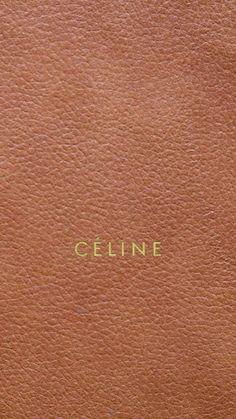 セリーヌ/キラキラロゴブラウンレザー iPhone壁紙 Wallpaper Backgrounds iPhone6/6S and Plus  CÉLINE