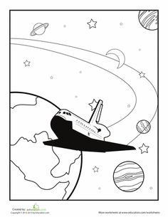 75 best space preschool theme images outer space school solar system 1950 Vintage Fashion outer space coloring page
