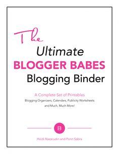 Blogging Binder cover
