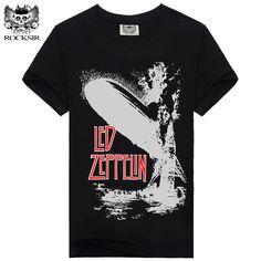 Rocksir LED ZEPPELIN New Design t shirt men 100% Cotton T-shirt Men Casual men's T shirts Men Brand Clothing #342 #Affiliate