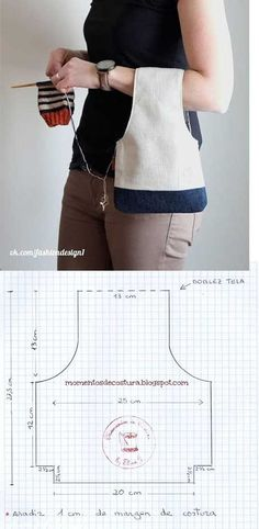 molde para hacer un bolso para tejido - Moldy Tutorial and Ideas Sewing Tutorials, Sewing Projects, Sewing Patterns, Home Sew, Patchwork Bags, Hand Sewing, Free Sewing, Bag Making, Fabric Crafts