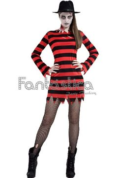 Disfraz para Mujer Chica Freddy Krueger