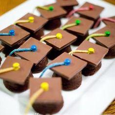 Graduation Cap Brownie Bites