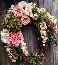 Made to order spring or summer grapevine wreath. on Etsy, $60.00