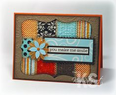 Love the quit look of this card by Kim Stewart.