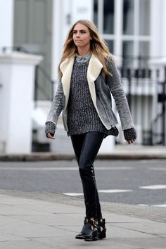 cara delevingne wearing her lam my biker coat with style #wewantsale #cara delevingne #streetstyle