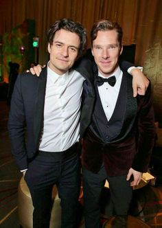 Orlando Bloom and Benedict Cumberbatch in The Hobbit. TOO MUCH AWESOMENESS IN ONE PICTURE @Katherine Anderson