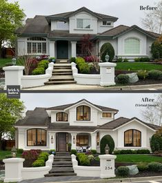 Home Renovation, simple to simply resourceful pin ref 5667876281 - Ingenious but dreamy room improvement examples. Stucco Exterior, Stucco Homes, House Paint Exterior, Exterior Paint Colors, Paint Colors For Home, Exterior Design, Stucco House Colors, White Stucco House, Style At Home