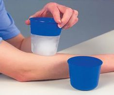 Re-usable cups for #ice #massage therapy - handle is cold retardant, so fingers won't get cold using it.
