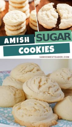 AMISH SUGAR COOKIES Amish Sugar Cookies is one of the easy and simple cookie recipe best for a potluck or bake sale. Made from fresh and finest ingredients. This cookie recipe gives you soft taste that melts in your mouth in every bite. Best to try with a Amish Sugar Cookies, Sugar Cookies Recipe, Yummy Cookies, Cookies Et Biscuits, Sugar Cookie Recipe With Buttermilk, Cake Like Cookies Recipe, Sugar Cookie Recipe No Baking Powder, Paradise Bakery Sugar Cookie Recipe, Mrs Fields Cookie Recipe